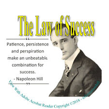 The Law of Success in Sixteen Lessons By Napoleon Hill Self Help Book on CD