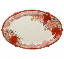 The Pioneer Woman Rosy Toile 21-Inch Serving Platter