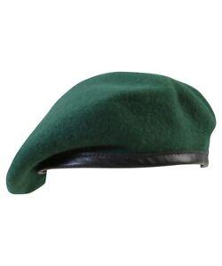 BRITISH ARMY / NAVY STYLE ROYAL MARINES GREEN BERET sizes 57 - 60cm 100% WOOL