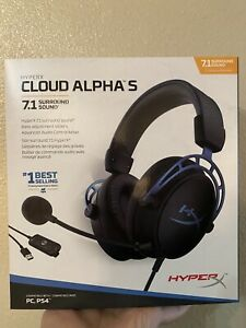 HyperX - Cloud Alpha S Wired 7.1 Surround Sound Gaming Headset for PC with Ch...