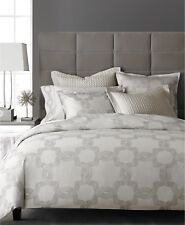 Hotel Collection Ironwork Medallion Jacquard Cotton KING Duvet Cover SILVER i741