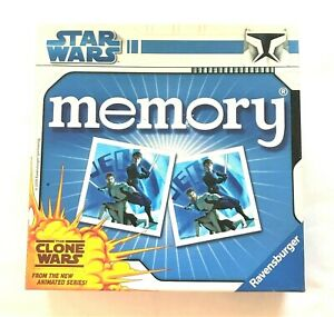 Ravensburger Star Wars The Clone Wars Memory Card Game 2-8 Players Incomplete