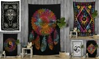 Wholesale Lot 5 Pcs Tapestry Mandala Indian Hippie Wall Hanging Cotton Bedspread