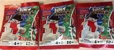 1679  Mega Bloks Snowman & Candy Cane (3 bags/150 pcs) Christmas Ornaments  NEW