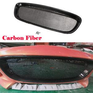 Front Bumper Grill Grille Frame Trim Fit For Jaguar F-type 13-16 Carbon Fiber