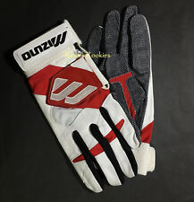 MIZUNO PRO MLB BATTING GLOVES - RED/WHITE/BLUE - JUST LIKE CHIPPER JONES WORE
