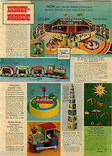 1972 ADVERT Toy Disney On Parade Train Mickey Mouse Locomotive Fort Apache ++