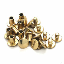 "Brass Platted Steel Chicago Screws 1/4"" 10 Pack 1290-21"