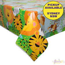 ANIMAL JUNGLE ZOO SAFARI PARTY SUPPLIES PLASTIC TABLECLOTH TABLE COVER