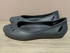 Crocs Women's Iconic Crocs Comfort Kelli Ballet Flat Shoe Black Size W 8