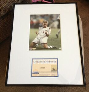 Mia Hamm Framed Signed 2004 USA Gold 16x20 Photo STEINER Certificate