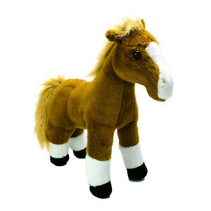 Wild Republic Brown Horse Pony  Plush Soft Stuffed Toy Washed and Clean 31cm