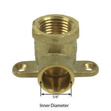 Libra Supply 1/2 inch, 1/2'' 90 Degree Brass Pressure Drop Ear Elbow, CxF, 5pcs