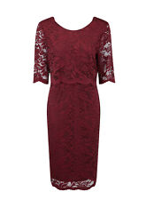 Evans Grace Berry Red Lace Overlay Dress - BNWT - Plus Size 20