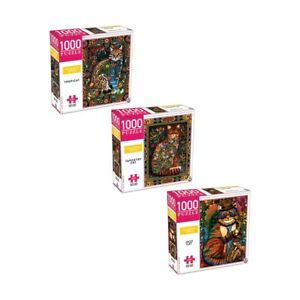 1000 Piece Colourful Series Puzzle Set - Assorted beautiful,challenging puzzle F