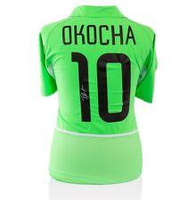 Jay-Jay Okocha Signed Nigeria Shirt 2002 - Number 10 Autograph Jersey