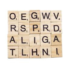 100pcs Wooden Letters Alphabet Scrabble Tiles Letters & For Game & Crafts HOT