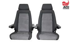 2 Recaro Specialist M Leder Alcantara grau Armlehnen T3 T4 Dehler Sitze