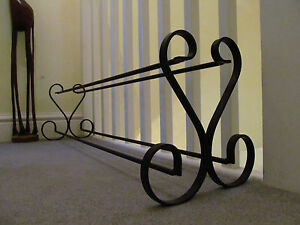 Wrought iron shoe rack, (1 METER) EXTRA LARGE!!!! handmade, metal, shoe storage
