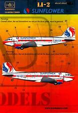 Hungarian Aero Decals 1/144 LISUNOV Li-2 (DC-3) Malev Sunflower Aviation