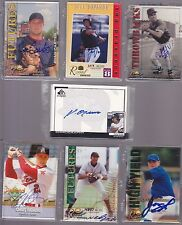 Autographed Baseball Cards for $1.50 each - Pick 1