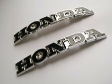 Pair Honda Fuel Gas Tank Emblem Badge 129X18mm Incl Mount Screws Coating Finish