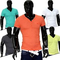 Men California beach boy T-Shirt V-Neck Polo Club Wear shirt Slim Bag