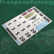 Scalextric/Slot Car Vintage Bentley 1/32 Scale Sticker Decals