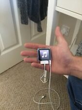 8gb Ipod Nano Blue 6th Generation With Charger & Earphones Bundle