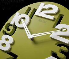 Wanduhr 3 D Design 31,5 cm Modern  8808 weiß grün