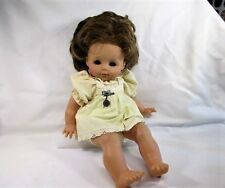 "Vintage Dolls Zapf Creation Doll Dirty Blonde Hair Brown Eyes Approx 18"" Tall"
