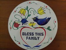 """ZOOK Novelties 8"""" HEX SIGN, Bless This Family"""