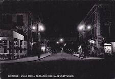 RICCIONE - Viale Maria Ceccarini dal mare (Notturno) 1949