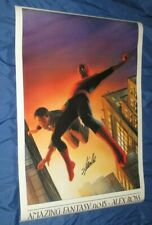 AMAZING FANTASY 15 Vintage Poster SIGNED by STAN LEE  ~Alex Ross Art / Spiderman