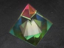 MYSTICAL EGYPT EGYPTIAN LEAD CRYSTAL PYRAMID PRISM 60mm TALL X 2.5 X 2 1/2
