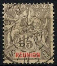 Reunion 1900-5 SG#52, 15c Grigio Usato #D49721