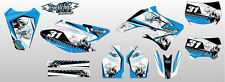 KIT ADESIVI GRAFICHE SKULLZ WHITE TM MX 250 F 450 F 2004 2005 2006 2007 DECALS