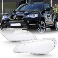 [Extra Clear+Heavy Duty] 07-12 BMW E70 X5 Replacement Headlight Lamp Cover Lens