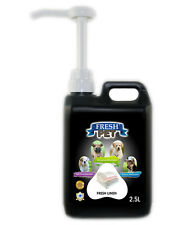 Fresh Pet Cleaner for Dogs & Cats - With Pump - Fresh Linen - 2.5L - Black