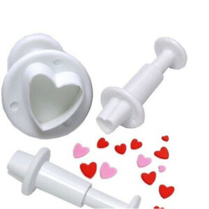 Tool Sugarcraft Fondant Plunger Cutter Mold Mould Cake Decorating Love Heart