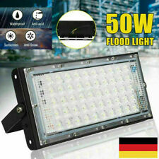 UltraDünn 50W LED Fluter Flutlicht Außen Strahler Hallenleuchte Scheinwerfer DE