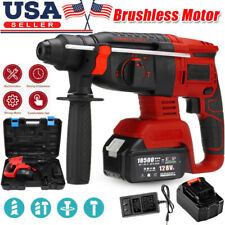 Adjustable Speed Sds Electric Brushless Rotary Hammer Drill With Storage Case Us