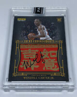2018 19 Panini Instant Wendell Carter Jr LUCKY ENDORSEMENTS Rookie Auto #10/10