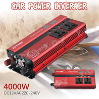 Inversor Uso universal 4000W 12V DC 220V AC Power Inverter USB Convertidor LCD