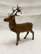 Vintage Putz Lead Large Stag Reindeer Figurine