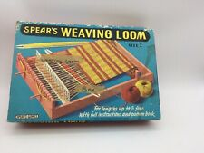 Spear'S Weaving Loom Size 2 - Booklet included & Yarn - Vintage