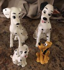 Disney Vintage 101 Dalmations Dalmation Pluto Dog Ceramic Figures Japan Lot Of 4