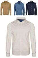 Mens Ex-MAX Long Sleeve 100% Cotton Casual Regular Fit - Single & Double Pocket