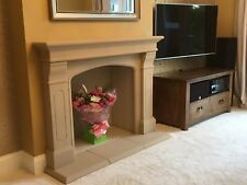 STONE FIREPLACE SURROUND trad NEW HIGH QUALITY WOOD BURNER STOVE GAS ELEC FIRE
