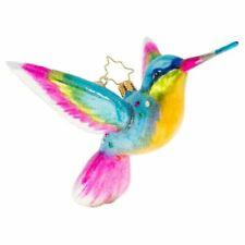 Christopher Radko Humming A Christmas Tune Hummingbird Glass Ornament 1020407